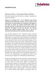 Stimmen am Fluss – Chormusik an Main und Donau - Rhein Main ...