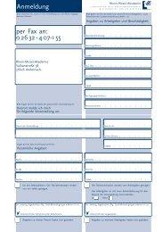 per Fax an: 0 26 32 - 4 07-1 55 Anmeldung - Rhein-Mosel-Akademie