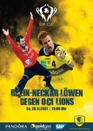 Ausgabe 06 (Saison 2011/2012): OCI Lions - Rhein-Neckar Löwen