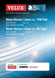 (Saison 2010/2011): THW Kiel / RK Celje - Rhein-Neckar Löwen
