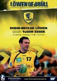 champions league - Rhein-Neckar Löwen