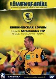 das Heimspielmagazin der Rhein-Neckar Löwen| Saison