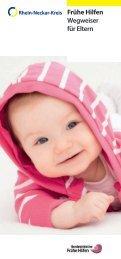 Frühe Hilfen Wegweiser für Eltern - Rhein-Neckar-Kreis