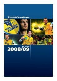 RNL Pressekit 0809.qxd:Layout 1 - Rhein-Neckar Löwen