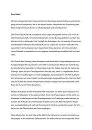 Geleitwort Kunstpreis - Rhein-Sieg-Kreis