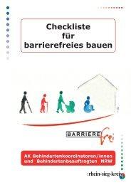Checkliste für barrierefreies bauen - Rhein-Sieg-Kreis