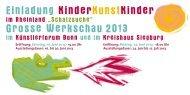 Einladung KinderKunstKinder Grosse ... - Rhein-Sieg-Kreis