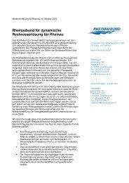 Rheinaubund für dynamische Restwasserlösung bei Rheinau