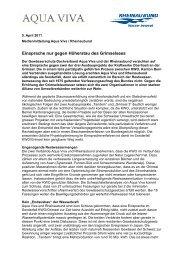 Medienmitteilung (29 kB) - Rheinaubund