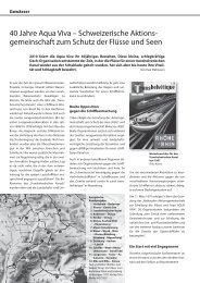40 Jahre Aqua Viva – Schweizerische Aktions ... - Rheinaubund