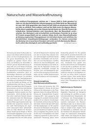 Naturschutz und Wasserkraftnutzung (123 kB) - Rheinaubund