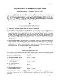 Hundesteuersatzung der Stadt Rheinberg vom 15.12.2000 in der ...
