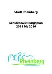 Stadt Rheinberg Schulentwicklungsplan 2011 bis 2016