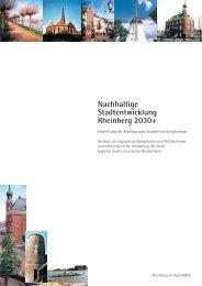 Nachhaltige Stadtentwicklung Rheinberg 2030+