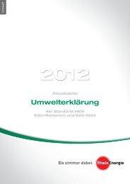 Aktualisierte Umwelterklärung 2012 der ... - RheinEnergie AG
