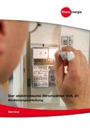 Der elektronische Stromzähler EDL 21 ... - RheinEnergie AG