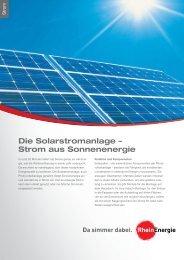 Die Solarstromanlage - Strom aus Sonnenenergie - RheinEnergie AG