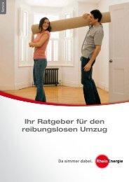 Ihr Ratgeber für den reibungslosen Umzug - RheinEnergie AG
