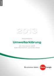 Aktualisierte Umwelterklärung der Standorte ... - RheinEnergie AG