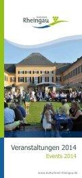 Veranstaltungen 2014 - Rheingau - Taunus - Kreis