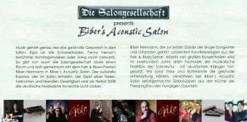 Biber Herrmann, der zur ersten Garde der Singer ... - Rheingau