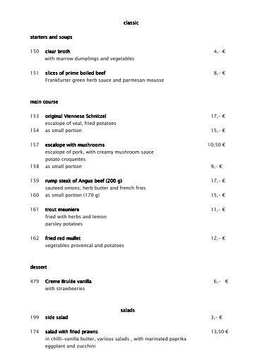 Speisen und Getränke englisch - Bonotel
