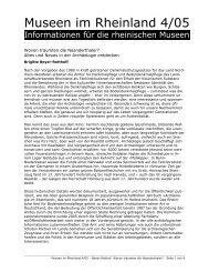 Altes und Neues in der Archäologie entdecken - RheinischeMuseen ...