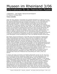 das Projekt »Schule Kunst Museum - RheinischeMuseen.de ...