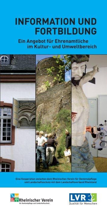 INFORMATION UND FORTBILDUNG - Rheinischer Verein