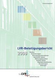 Beteiligungsbericht 2008 - Landschaftsverband Rheinland