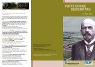gedenktag Fritz encke 15. Mai 2011 - Rheinischer Verein