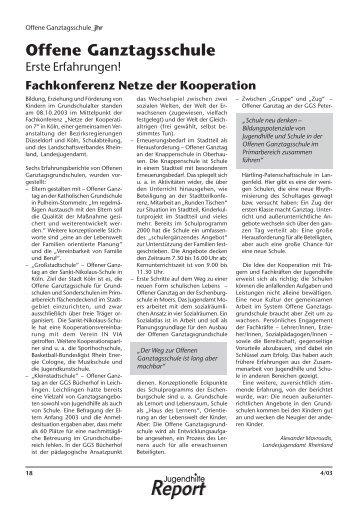 Offene Ganztagsschule - Landschaftsverband Rheinland