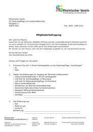 Mitgliederbefragung - Rheinischer Verein
