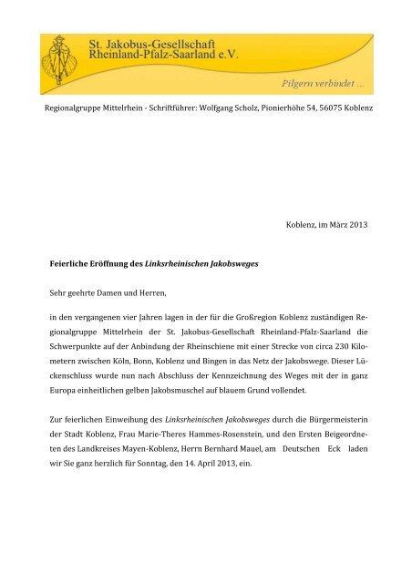 Einladung Wegeeröffnung - Rheinischer Verein