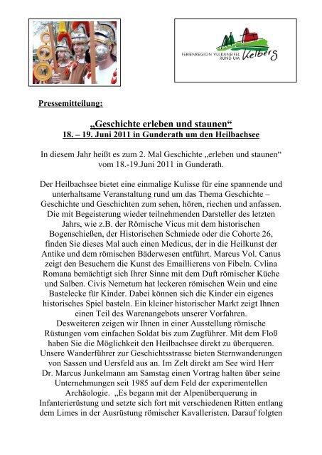 """""""Geschichte erleben und staunen"""" - Rheinischer Verein"""