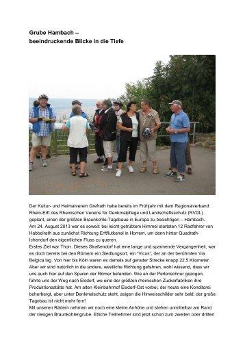 Grube Hambach - Rheinischer Verein für Denkmalpflege und ...