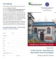 Flyer - DenkmalAkademie