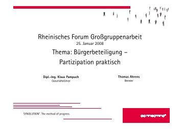 SYNOLUTION®. The method of progress. - Rheinisches Forum