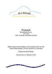 Protokoll Rheinisches Forum 25.11.05