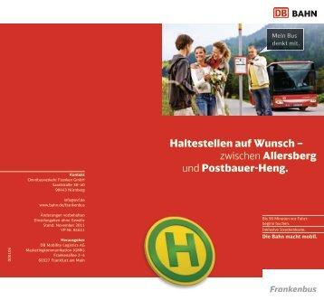 Haltestellen auf Wunsch – zwischen Allersberg und ... - Bahn.de