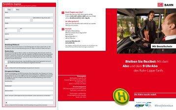 Mit dem Abo und dem 9 UhrAbo des Ruhr-Lippe-Tarifs - Busverkehr ...