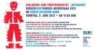 """einladung zum eröffnungsfest """"anziehend"""" - Rheinschiene @ktuell"""