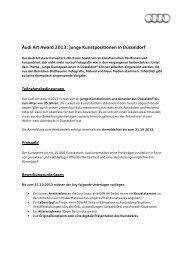Audi Art Award 2013 - Rheinschiene @ktuell