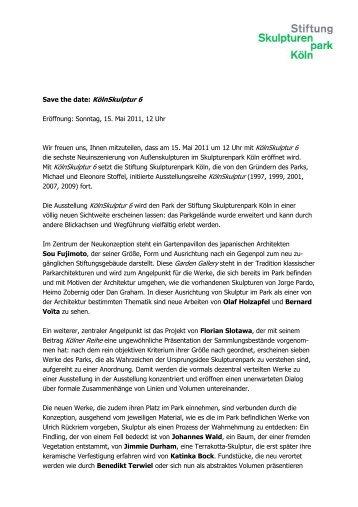 KölnSkulptur 6 - Rheinschiene @ktuell