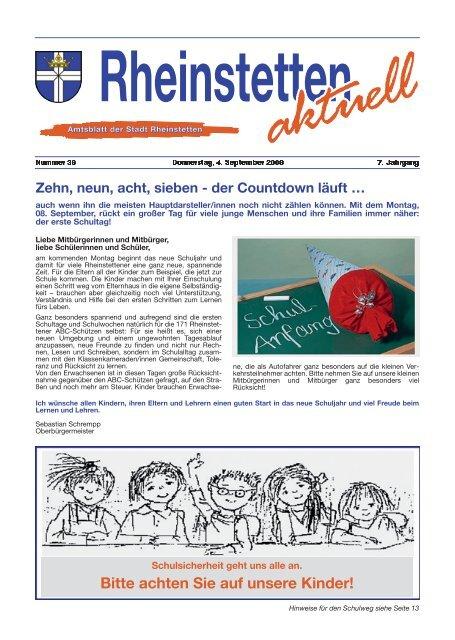 Bitte Achten Sie Auf Unsere Kinder Stadt Rheinstetten