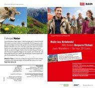 Rein ins Erlebnis! Mit Ihrem Bayern-Ticket zum Wandern ... - Bahn