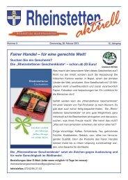 Fairer Handel – für eine gerechte Welt! - Stadt Rheinstetten
