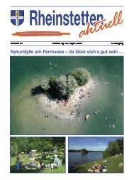 Naturidylle am Fermasee – da lässt sich`s gut sein - Stadt Rheinstetten