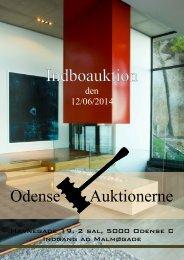 Auktion – Indboauktion – Odense Auktionerne – Katalog