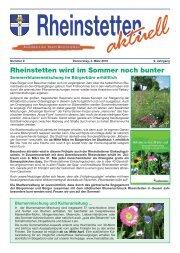 Rheinstetten wird im Sommer noch bunter - Stadt Rheinstetten